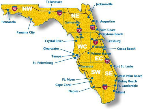 where is disney world located in florida map